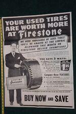 1947 Firestone Tires Dealer Poster Promotional Letter in origingal Envelope