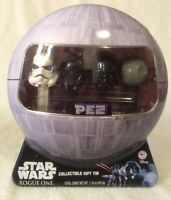 Star Wars Rogue One PEZ Gift Set in Collectible Death Star Tin DARTH Vader
