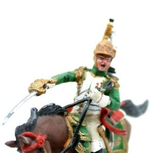 Mounted Toy soldier in Uniform with Artillery Officer Empress Dragoons 1812