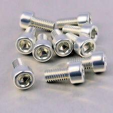 Aluminium Allen Bolt M6 x (1.00mm) x 12mm Pack x 10 Silver