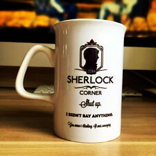 Sherlock Creative White Mug Collectible Letters Ceramic Coffee Tea Milk Cup Gift