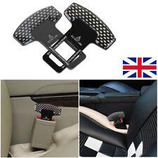 2X Car Safety Seat Belt Buckle Alarm Stopper Clip Clamp Carbon Fiber Universal