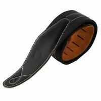 Leather Real Cowhide Guitar Strap for Electric Bass Guitar Adjustable Padded