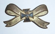 GERMAN  -  Napoleonic War, KriegerVerein Badge. With mini Iron Cross, 1813-1815.