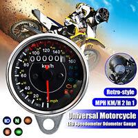 Universale per moto moto KM/H MPH tachimetro contachilometri contagiri Gauge