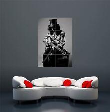 Guns N Roses Slash Guitar B&W música rock imagen cartel impresión de arte gigante