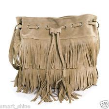 Women Lady Messenger Tassel Tote Bag Fringe Shoulder HandBag Bucket Black Coffee