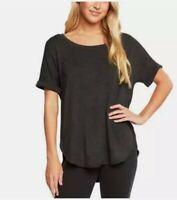 Matty M Women's Short Sleeve Rolled Cuff Tunic Top Shirt. Color Gray. Size M