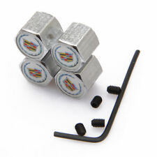 Modified Car Wheel Tire Valve Stems Caps Anti-Theft Locking For Cadillac w jS3**