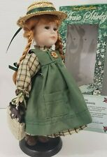Limited Edition Anne of Green Gables Porcelain Doll 14'' with Stand 593/5000