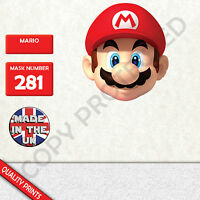 mario CARD FACE MASK MASKS FOR PARTY FUN HALLOWEEN FANCY DRESS UP P&P