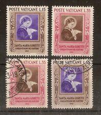 Vatican 1953 Goretti SG177-178 Mint & Used Cat£21