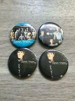 RARE Lot of 4 Deadstock Vintage 1978 Star Trek: The Motion Picture Button Pins