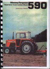 """Massey Ferguson"""" 590"""" Tractor Operador LIBRO MANUAL DE INSTRUCCIONES"""
