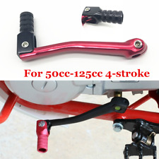 Red + Black Head Motorcycle Bike Scooter Gear Shift Lever Shifter CNC Aluminum