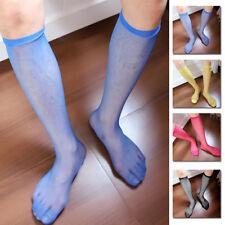 401aa933c84 1 Pair Men s Sexy Knee High Long Dress Nylon Mesh Sheer Socks CA