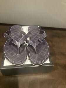 LOUIS VUITTON Deep Purple Rubber Flipflops Beach Sandals EUR Size 39.  US 8/8.5