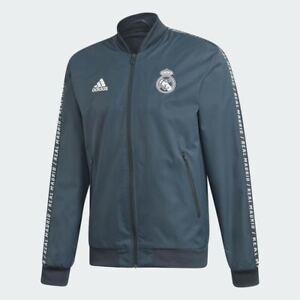 🔥 adidas Men's Soccer Real Madrid Anthem Jacket Blue Medium NWT FAST SHIPPING!!