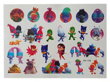 Temporary Tattoo TROLLS & PJ Good Quality Great for Party Bags
