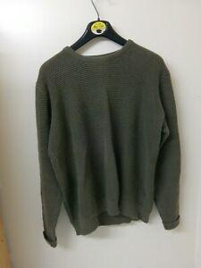 Mens Jumper Size LARGE - Chest 42-44 In - 100% Cotton - Tu Sainsburys Dark Green