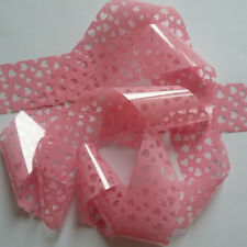 PINK HEART Clear Nail Art Foil Decoration Wrap Transfer