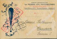 Polonia, Hoja Bloque. Sobre Yv 6. 1938. Hoja bloque (arruguitas habituales), fr