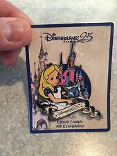 Disneyland Paris 25th Anniversary Alice In Wonderland Pin First In Series LE 700