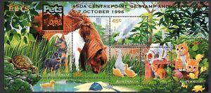 Australia 1996 Pets Mini Sheet Overprinted ASDA Centrepoint Mint Unhinged