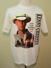 Kenny Chesney t-shirt 2007 Flip Flop tour white large Brooks & Dunn