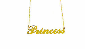 Personalised Carrie Style Name Necklace,18K Gold Plated Silver,Any name,HANDMADE