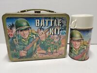 Vintage Battle Kit with Thermos Metal Lunch Box King Seeley 1965