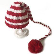 Christmas Baby Newborn Hat Newborn Crochet Long Tail Striped Photo Props Pop Cap