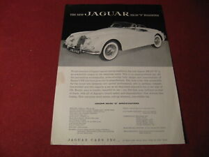 1950's? Jaguar XK150 Sales Sheet Brochure Booklet Book Catalog Old Original