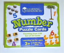 Learning Resources: Number Puzzle Cards - New & Sealed - Ages 3+