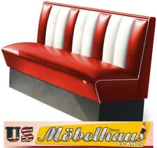 HW-150-Red American Diner Bench Seating Furniture USA Style Catering