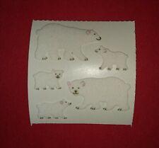 🦁Sandylion 1 Abriss Eisbären Stoff Fuzzy Scrapbooking Sticker 90er selten🦁