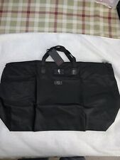 Tumi Just-in-Case Tote – Black Luggage Bag . Foldable, Packable. NWT