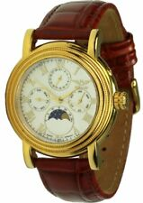 Minoir Watches Marco Polo Quartz Stainless Steel IP Gold Date Sun/Moon Ø 39mm