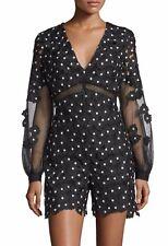Self Portrait Lace Daisy Dot Playsuit Romper Dress Brand New BNWT UK 10 IT 42