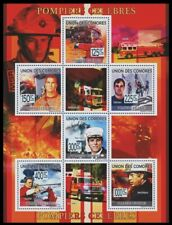 Comoros 2009 MNH SS, Famous Firefighters, Celebrities, Special Transport