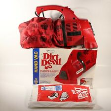 Royal Dirt Devil Plus Hand Vac Vacuum Model 08100RT- Extra Bags Tested Works