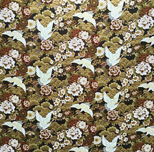 """1m black crane bird print 100/% Cotton Dress Craft Fabric 44/""""//45"""