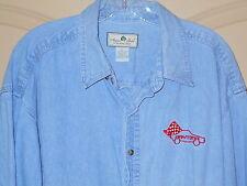 Denim Shirt Mens XL Daytona Blue Aspen Gold Riverwashed Cotton Long Sleeves 5M6