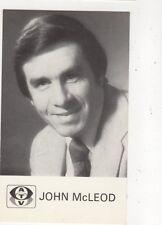John McLeod Plain Back ATV Publicity Card 571a