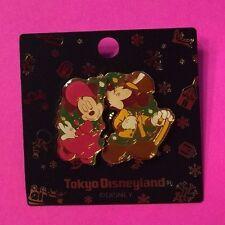 Mickey Kissing Minnie Christmas 1999, Tokyo Disneyland Holiday Disney 2-Pin Set