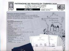 Patrimoine de France 2020 Jeu yvert et  tellier supra