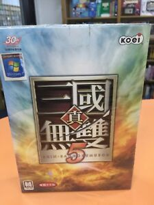 真三国五双 5 Windows DVD-ROM Chinese (Traditional) PC Game Sealed Retail Box