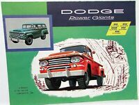 1958 Dodge 4 X 4 W100-500 Power Wagon Truck Dealer Sales Brochure Folder Orig