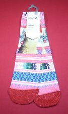 Stance Girls Holiday Socks Size Youth Large 2-5.5 Tinas Holiday Llama Santa Hat