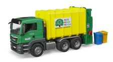 New Bruder MAN TGS Garbage Truck Rear Loading (Green/Yellow) No Tax NIB